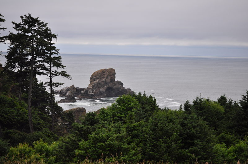 View of the ocean from Ecola State Park in Oregon while hiking on our full time RV adventure.