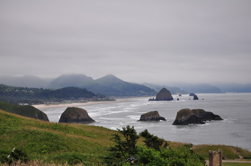 View of Manzanita, OR from a cliff nearby on our full time RV adventure.
