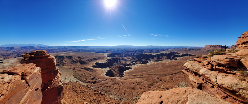 View from a hike looking down in Canyonlands NP.