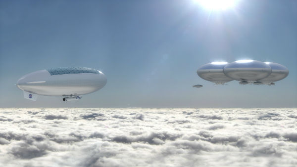 Wild Airship Idea for Cloud Cities on Venus
