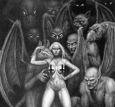 Lilith with demons