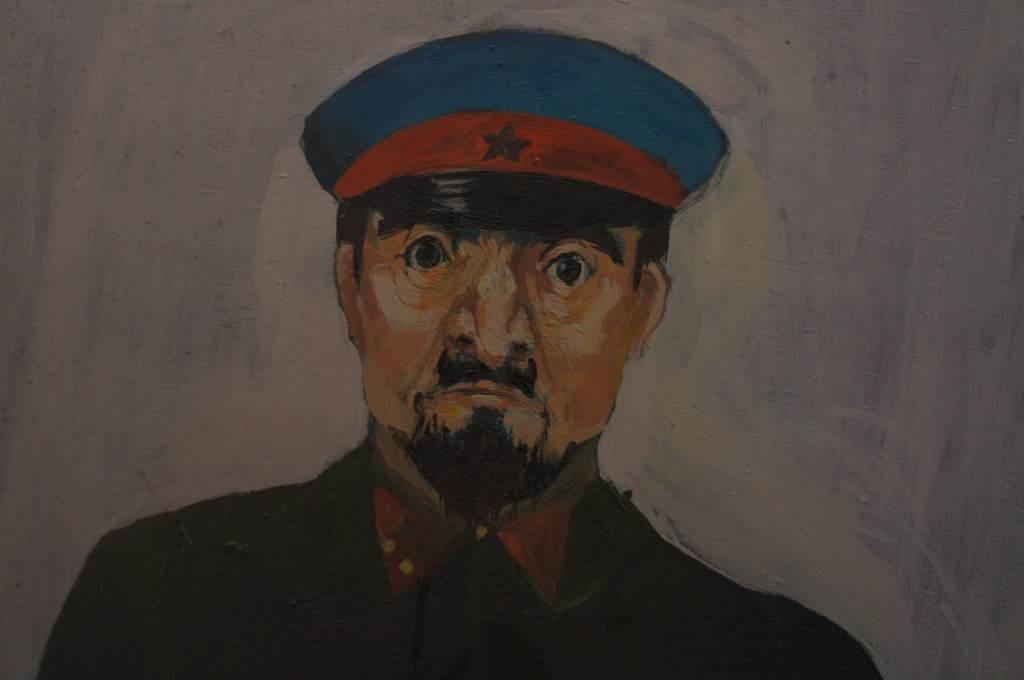 """""""Еврей-чекист"""" в экспозиции Замка, г.Золочев."""