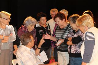 встреча Элеоноры Гройсман с пенсионерами Хайфы