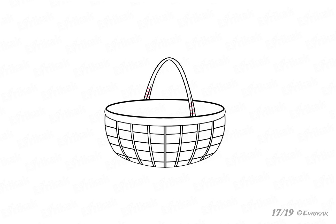 How to draw a basket step by step