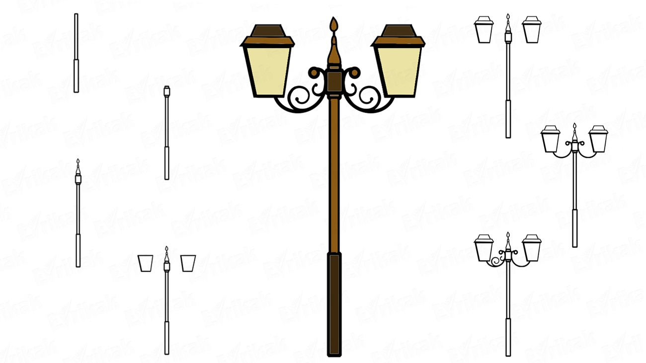 How To Draw A Street Lamp Step By Step