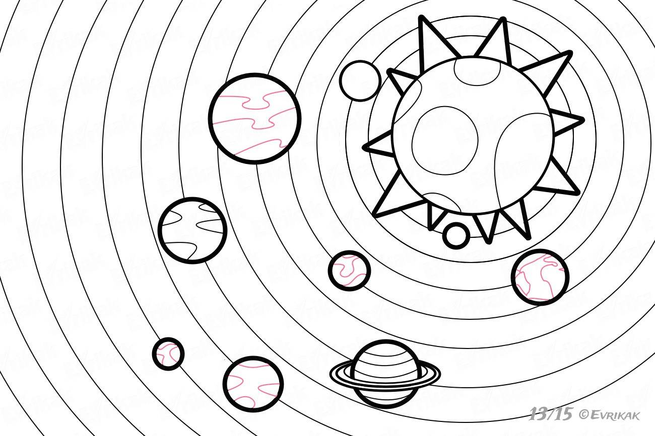 картинки с планетами солнечной системы детям раскраска существуют модные