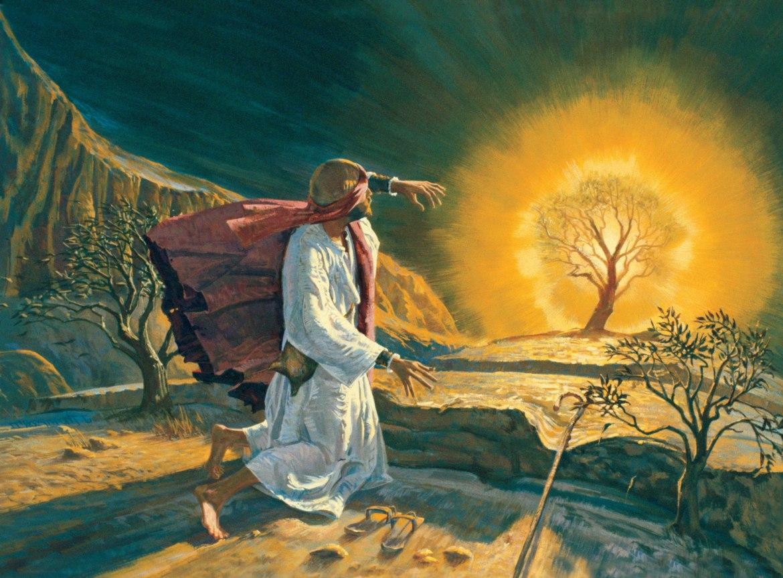 Musa'nın Tanrı tecrübesini ifade etmekte kullandığı yanan çalılık...