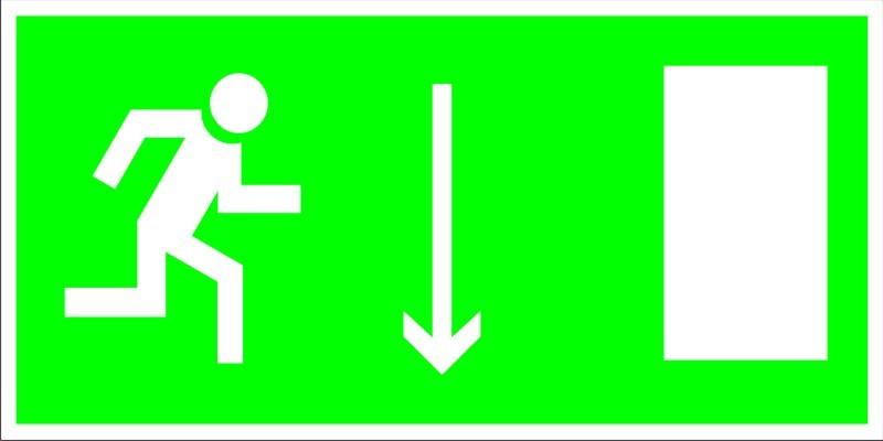 Е 09 Указатель двери эвакуационного выхода (правосторонний)