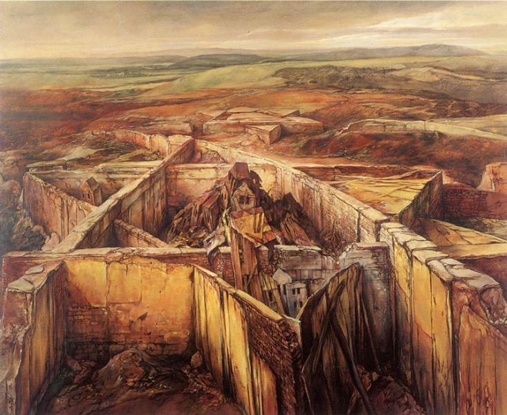 samuel bak 024 Холокост в еврейских картинах Самуила Бака (Samuel Bak)