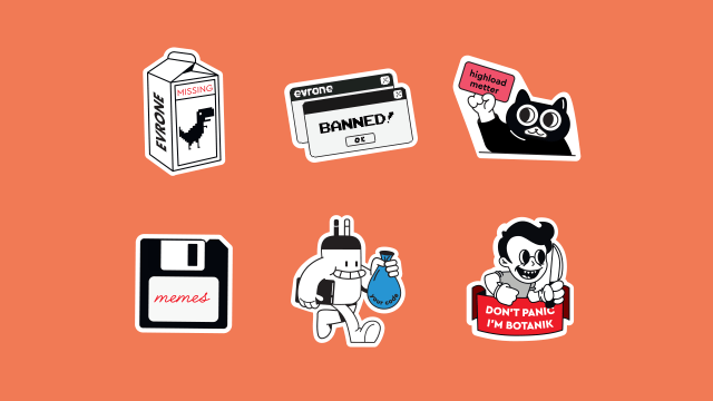Stickers for coders