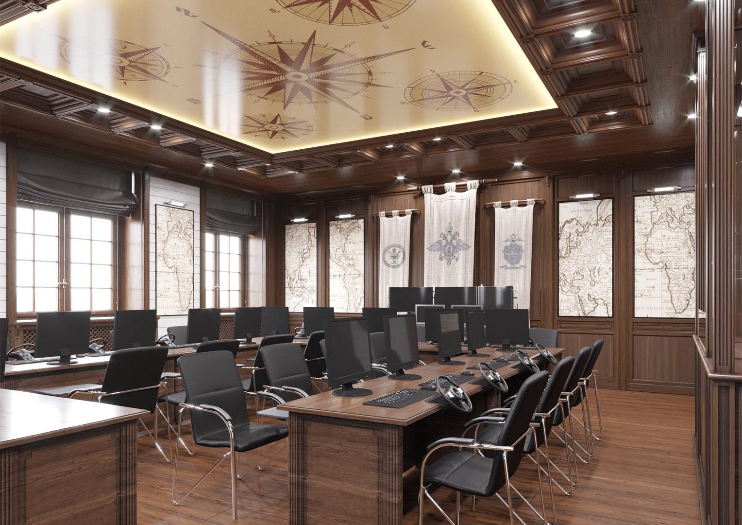 Интерьер аудитории судовождения