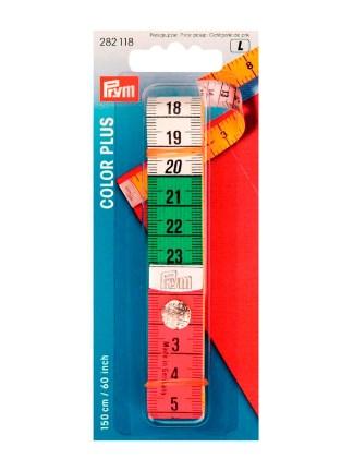 Сантиметровая лента Color Plus с кнопкой