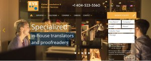 Website Relaunch at EVS Translations