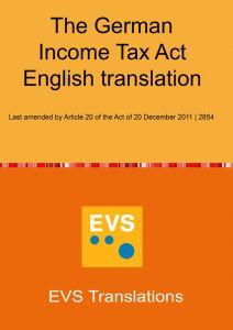 English translation of Einkommenssteuergesetz