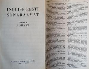 Erstes Englisch-Estnisches Wörterbuch - Johannes Silvet