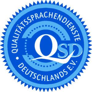 20 години служба за гарантиране качеството на преводите – поздравления, QSD e.V.