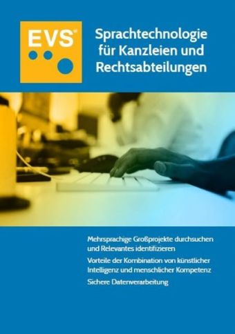 """Whitepaper """"Sprachtechnologie für Kanzleien und Rechtsabteilungen"""" von EVS Translations"""