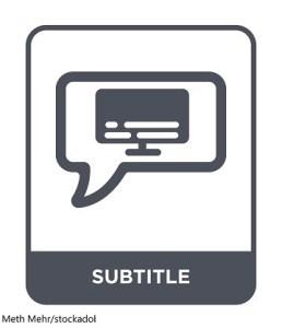 Субтитри / Subtitles – Дума на деня – EVS Translations
