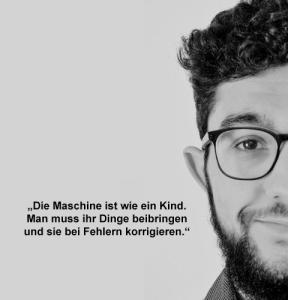 Mohamed. Experte für maschinelle Übersetzung / Windelprofi.