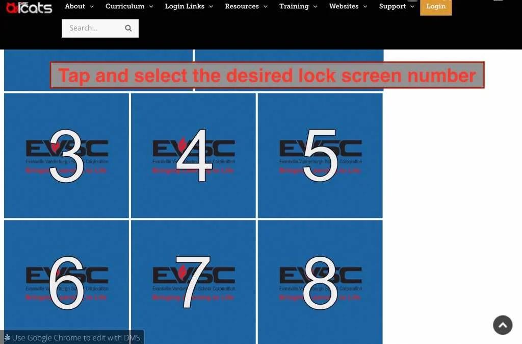 Select Lock Screen Image