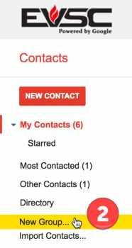 Google Contact Groups - Step 2