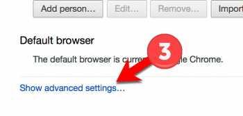 Turn off google default program - Step 3