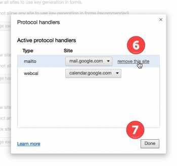 Turn off google default program - Steps 6-7