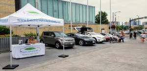 EV Society stand and EVs