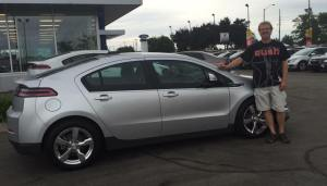Ian Graham and his Chevy Volt