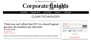 Think you can't afford an EV?-Corporate Knights