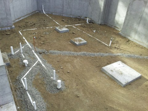 Underground Plumbing of a Custom Residence in Evergreen CO  EVstudio Architect Engineer