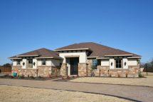 Single Story Stone and Stucco Homes