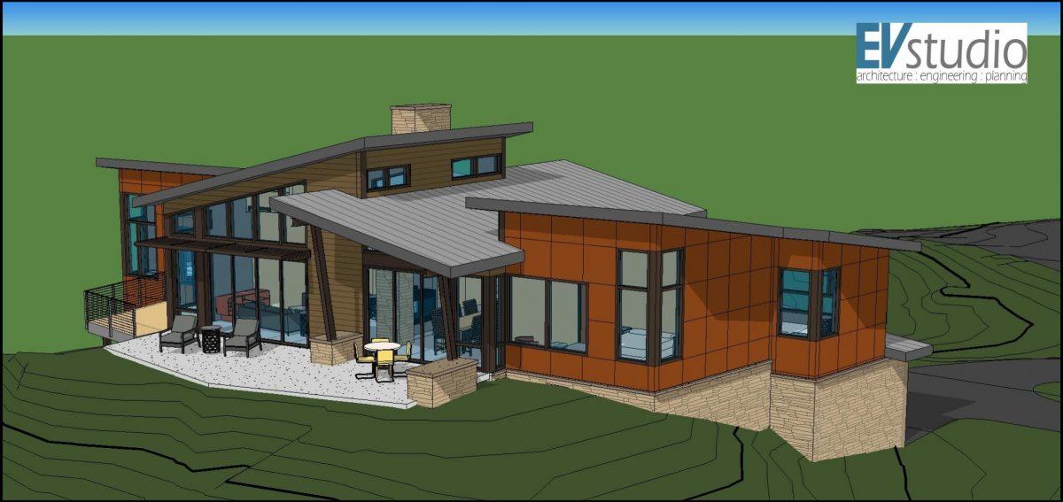 Snyder Mountain Road Mountain Modern Home  EVstudio