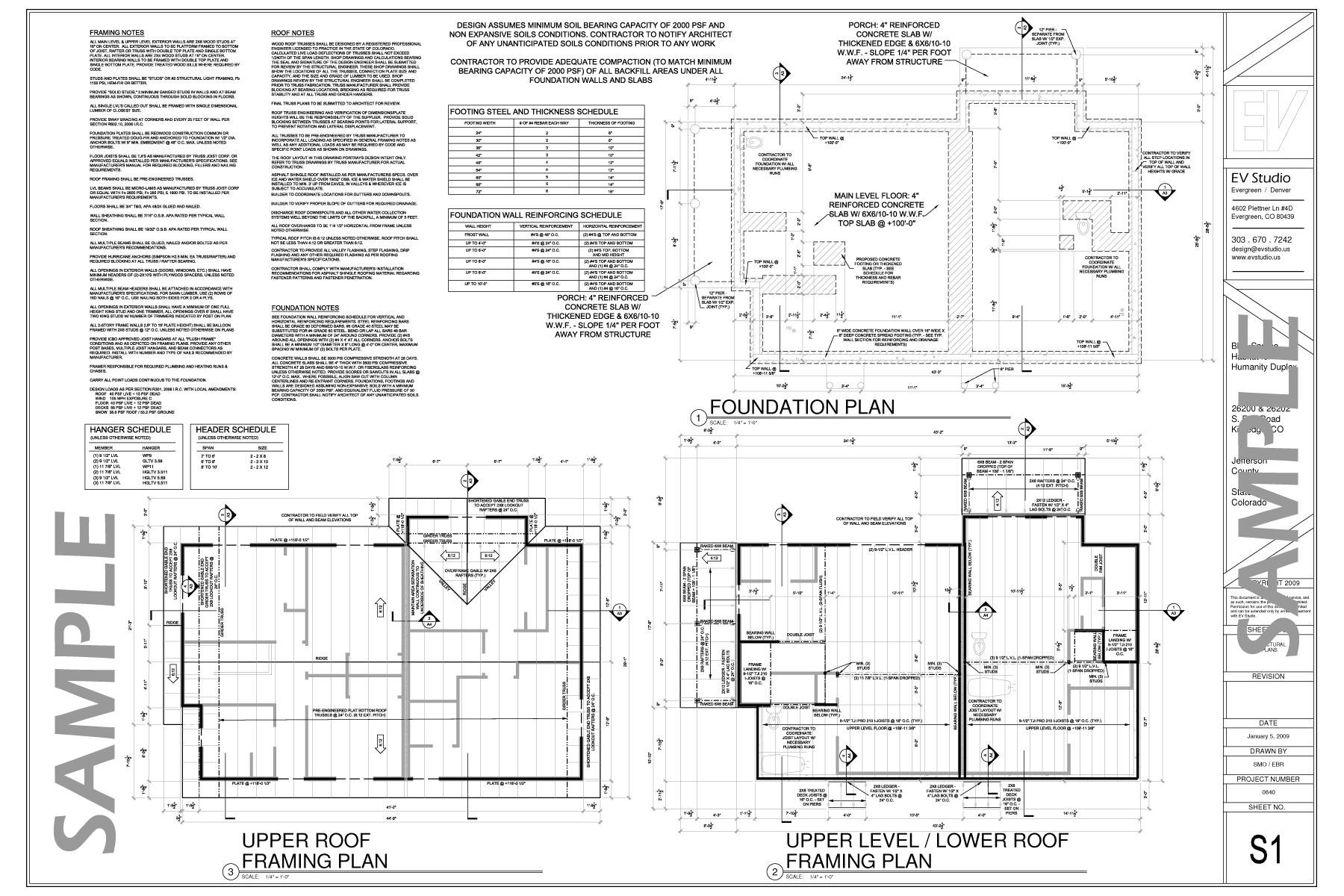 Blue Spruce Habitat For Humanity Duplex Plans