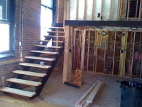 Pink Fog Studio Stairs  Open Riser Steel Stair With Oak ...