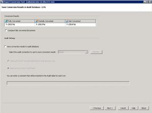 summary screen example