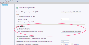 Here's where you enable host metrics and set the path to the SAPOSCOL binary