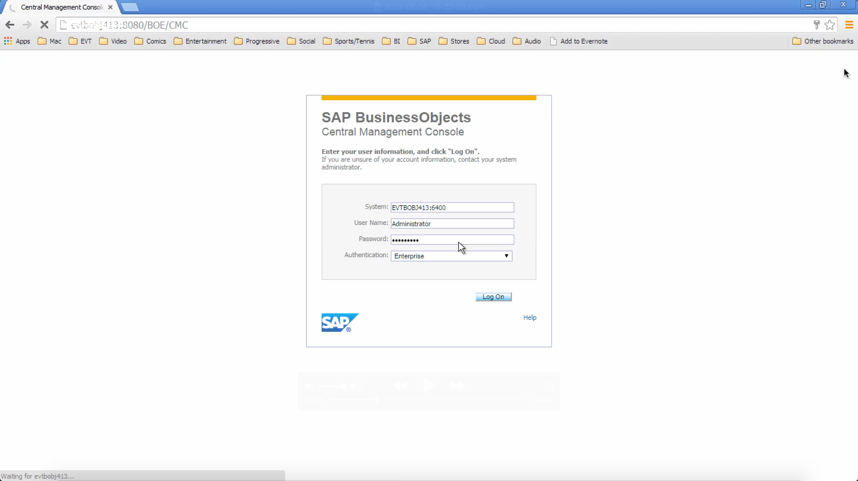SAP HANA Viewed with OLAP inside of BI Launchpad - EV