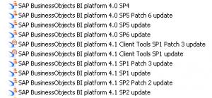 SAP BI4 Install History
