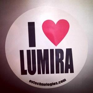 I Love Lumira sticker on MacBook