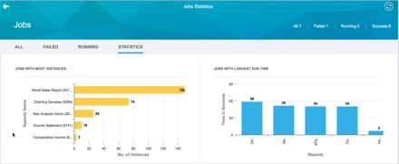 BI Administrators Cockpit 18 Jobs Statistics