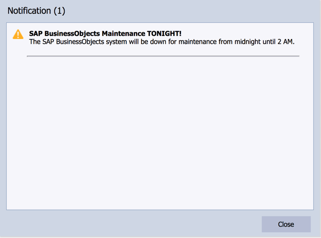 SAP BI 4.2 User Notification Events