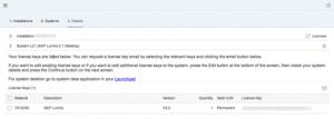 SAP License Manager - Managing Keys