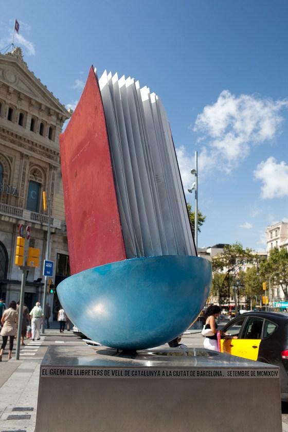 Homenatge al Llibre Joan Brossa (1994) At Passeig de Gràcia, Barcelona, Spain