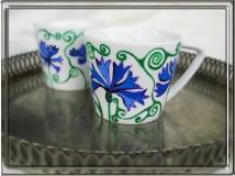 kubki malowane w chabry