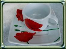ręcznie malowana porcelana maki