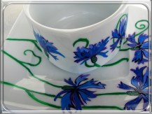 ręcznie malowana porcelana chabry