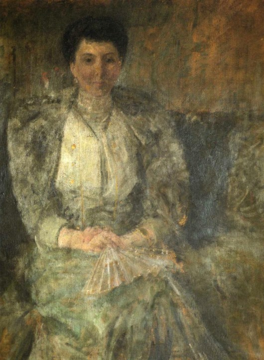 Olga Boznańska - Portret Zofii z Goetzów Okocimskiej-Włodkowej