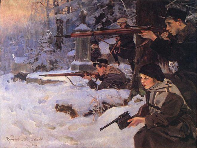 Wojciech Kossak - Orlęta lwowskie
