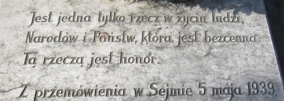 Słowa ministra Józefa Becka